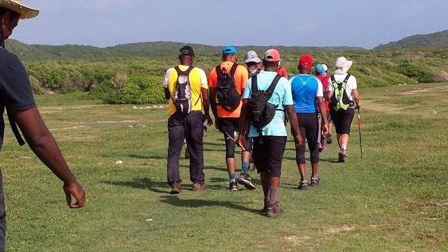 Le groupe de marche vers l'Anse à l'Eau