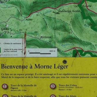 Carte de bienvenue et d'information sur le parcours