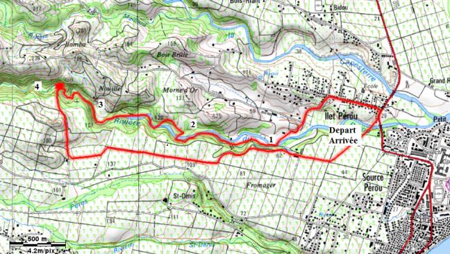 Carte du parcours