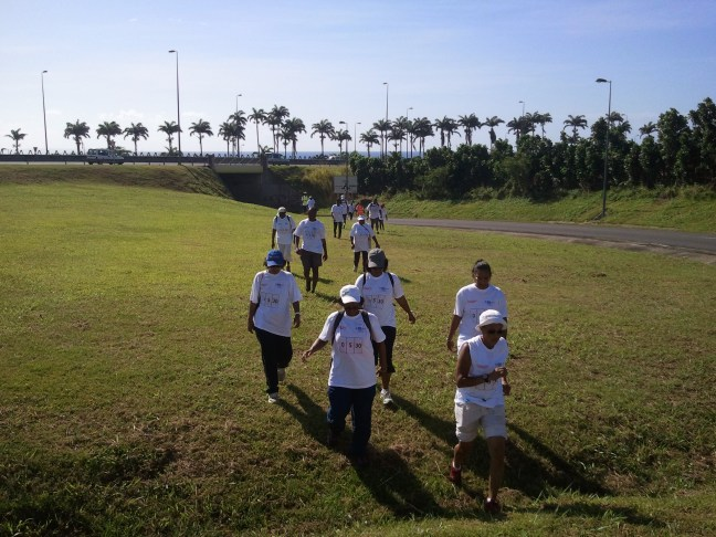 Un groupe de marcheurs
