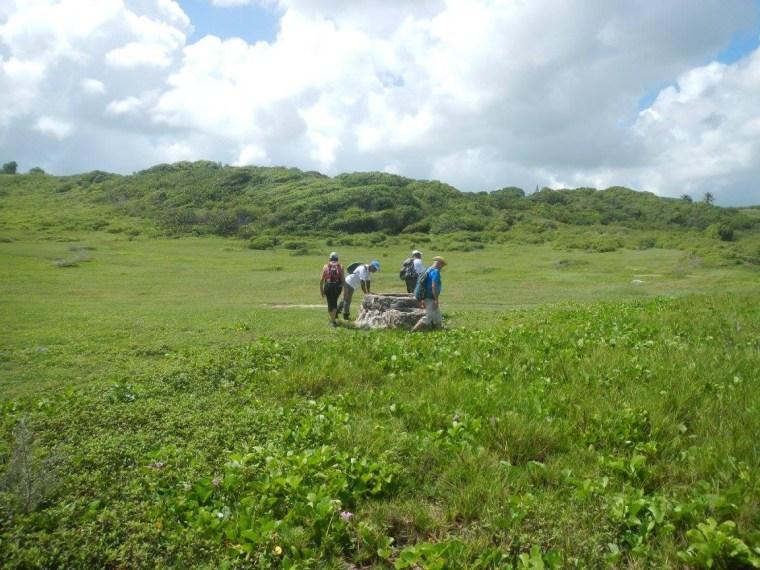 Puits se trouvant sur le parcours du littoral est de la ville du Moule