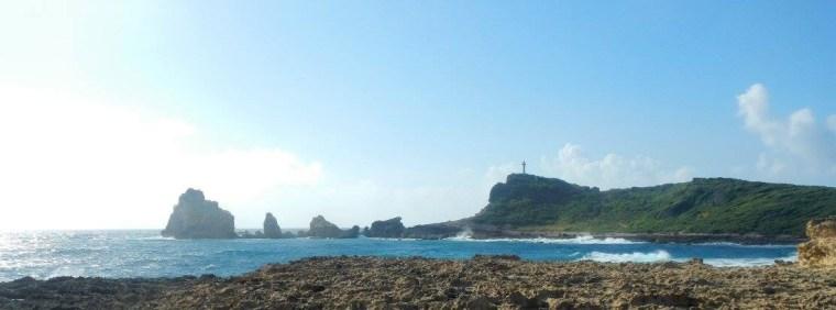 Vue sur La croix de la Pointe-des-châteaux