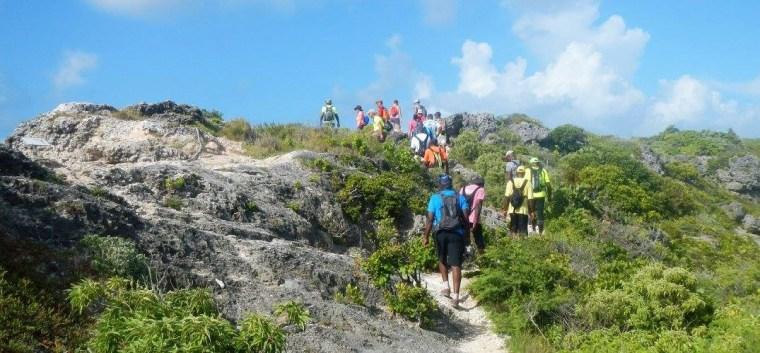 Le groupe de randonneurs AACN sur le parcours.
