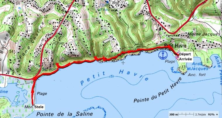 "Carte de la trace ""Plage de Petit-Havre_Salines"""