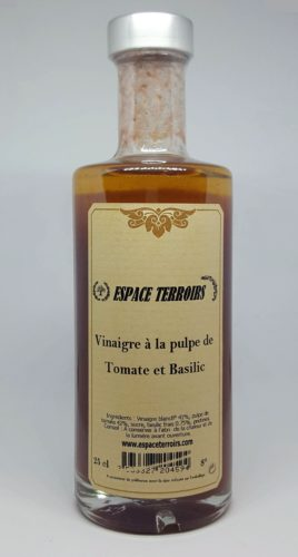 vinaigre tomate basilic