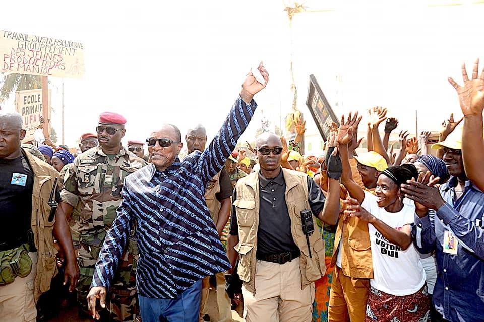 Kankan: Alpha Condé demande à ses militants de sécuriser les élections