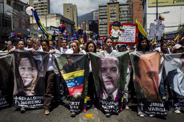 Protestas en Venezuela por los 39 muertos