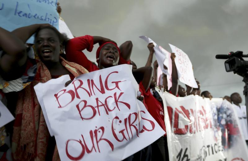 Mujeres durante una protest en Abuja. (Afolabi Sotunde / ©Reuters)