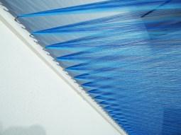 plexus arte con hilo azul