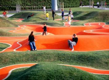 Parque infantil topografía