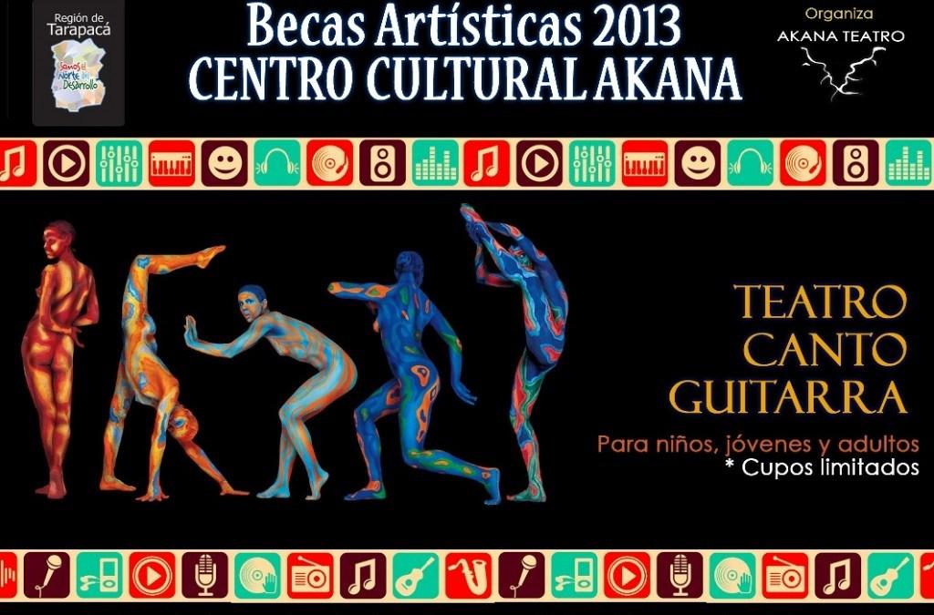 Becas Artísticas: Guitarra, Canto y Teatro – Iquique 2013