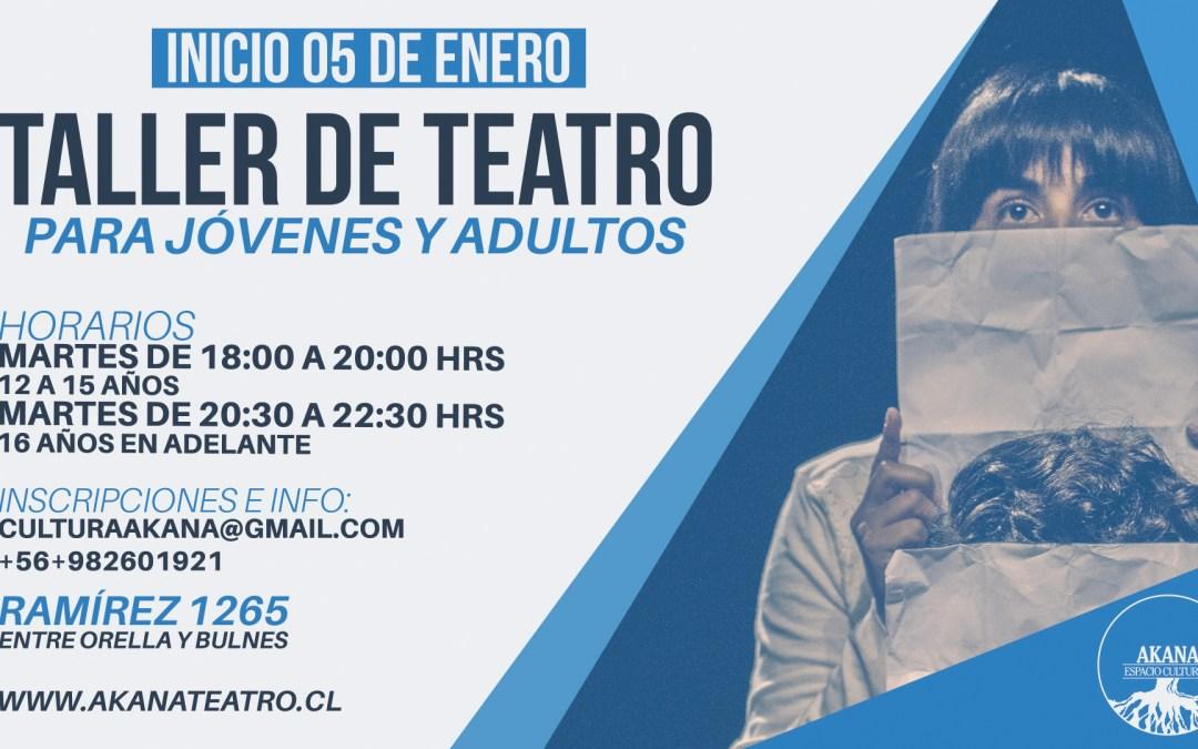 Taller de Teatro para jóvenes y adultos