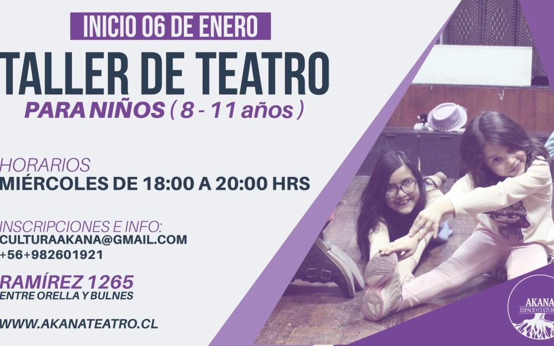 Taller de teatro para niños – 2016