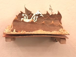 Hojas de palmera y metal, Giselle Lekerman