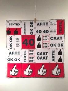 María elena Pensel: Papel cosido a modo de patchwork