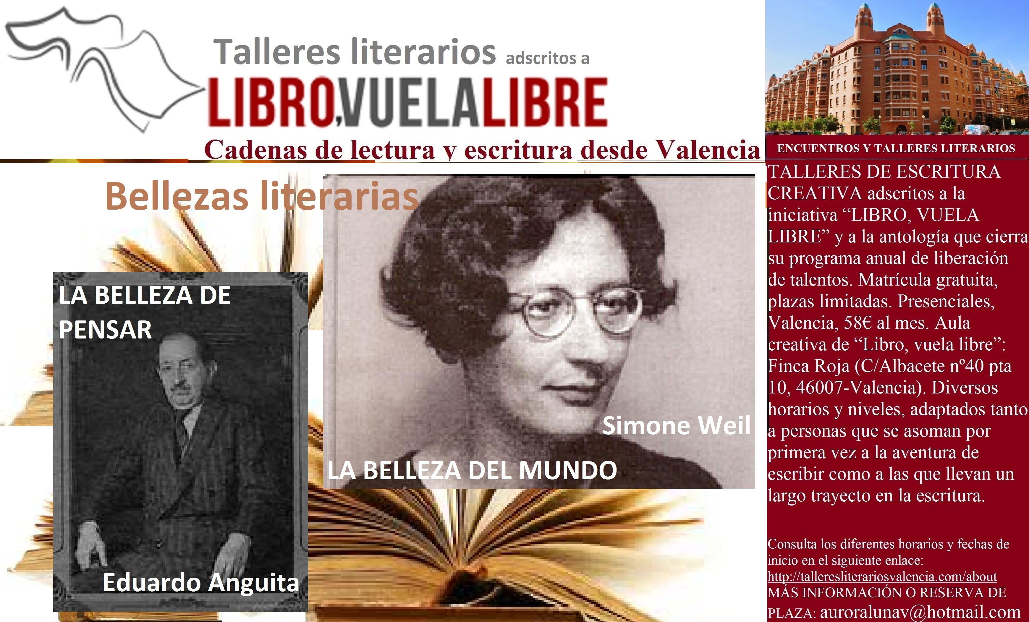 Club de lectura: BELLEZAS LITERARIAS, sugerencias en curso del taller de escritura