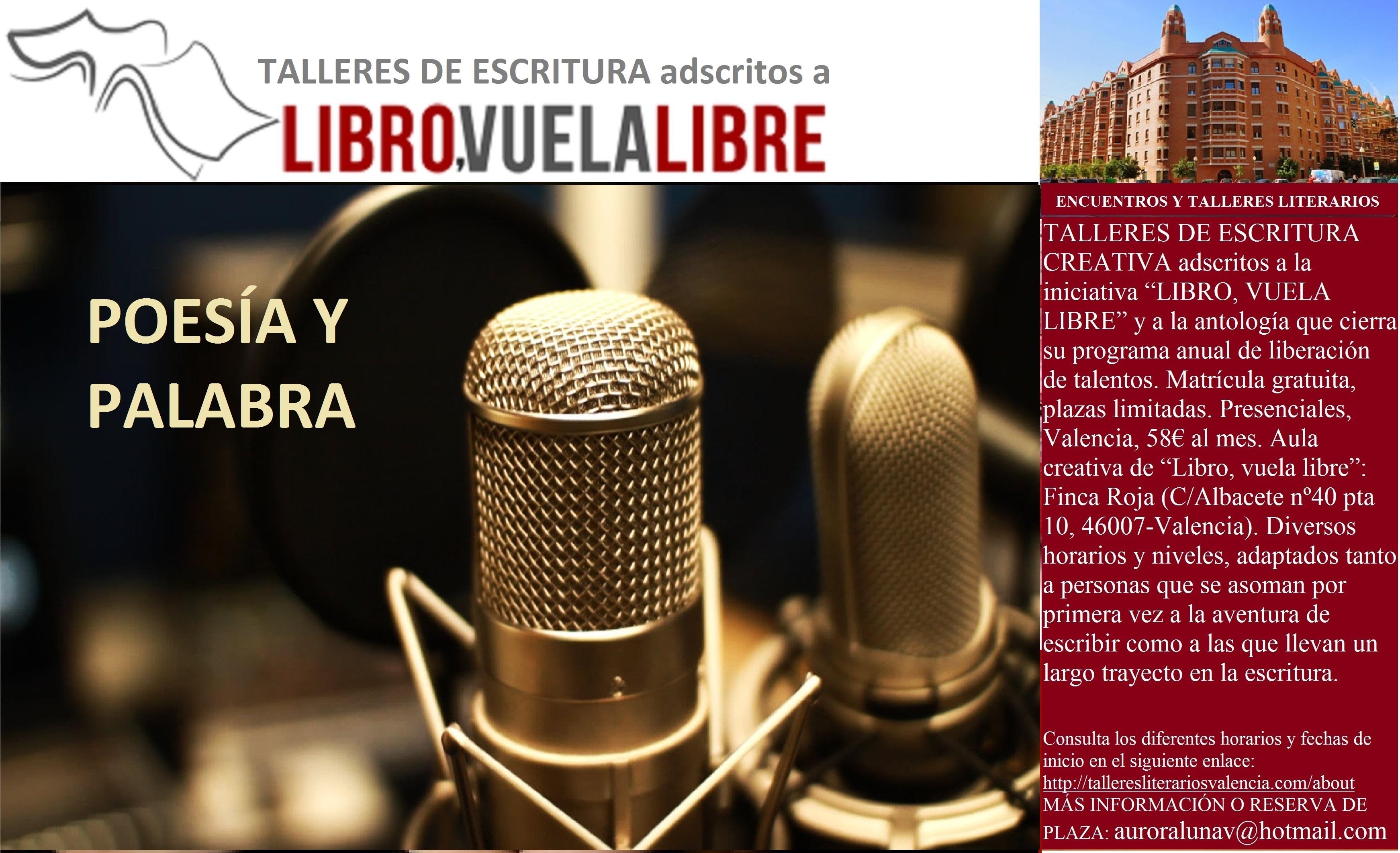 POESÍA Y PALABRA. Cursos y talleres presenciales en Valencia. Clave P-30