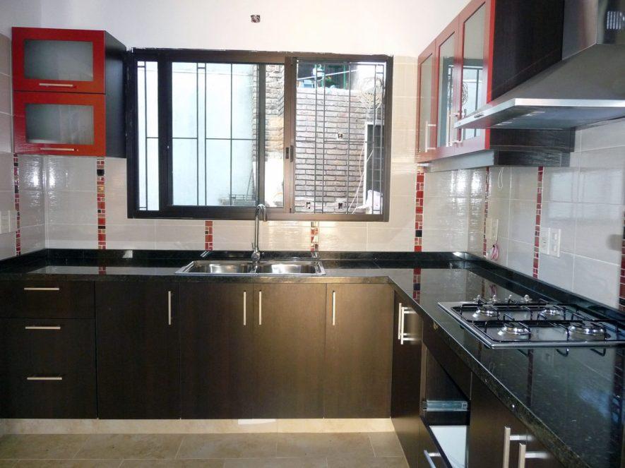 muebles de cocina con bajomesada y aereos con vidrio opacid