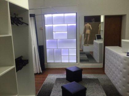 estanterias, plataforma vitrina, caja, probadores
