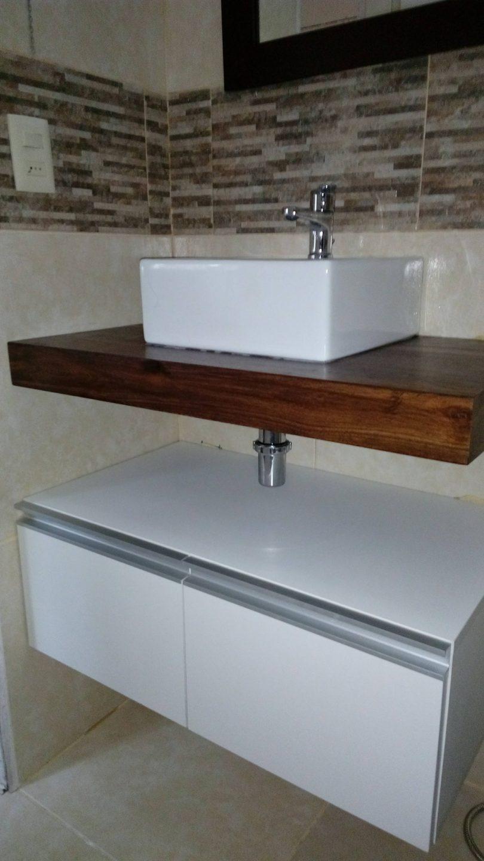 Mueble para Bacha de Baño con Mesada en Madera - espacio h!