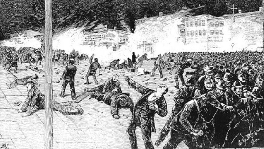 martires de chicago represion