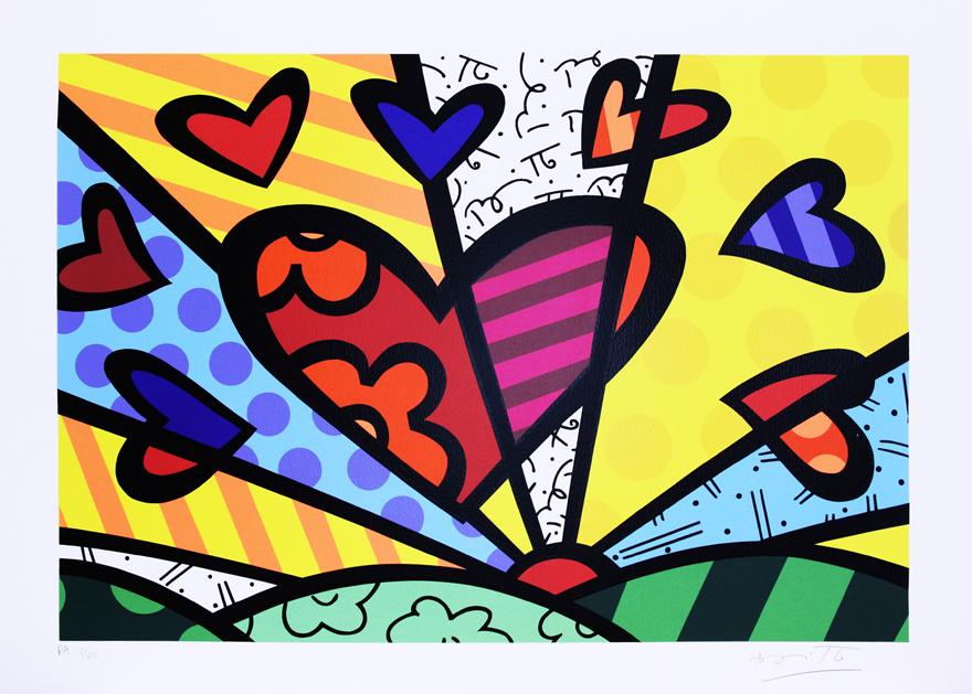 romero britto new day colouring pages
