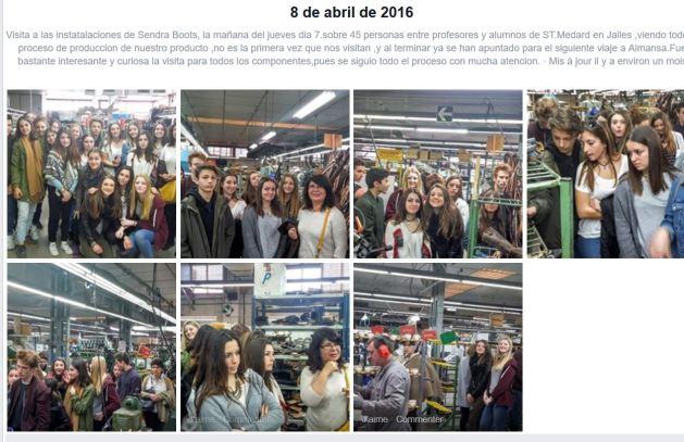 2016 - lyceens de sud medoc en visite à Almansa