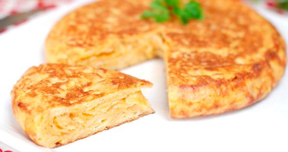 Tortilla patatas receta