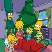 simpsons christmas tree