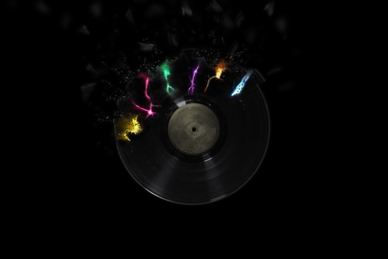 vinyl black music wallpaper pictselcom