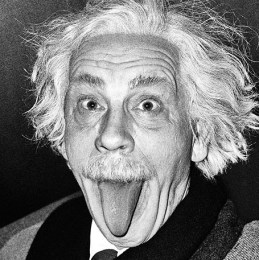 Albert Einstein Sticking Out His Tongue (1951)