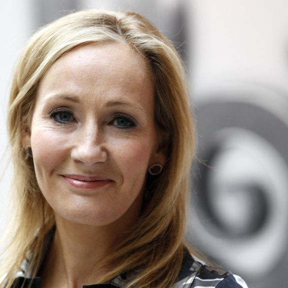 British writer JK Rowling, author of the Harry Potter series of books, poses during the launch of new online website Pottermore in Londo
