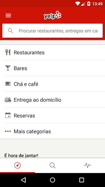 Fonte: Yelp/Playstore