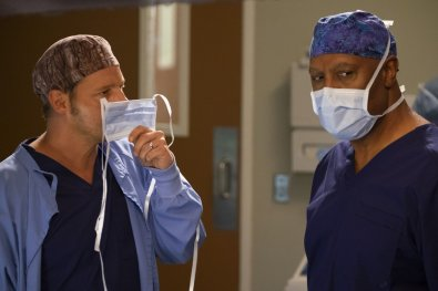 Justin Chambers (Alex Karev) e James Pickens Jr (Richard Webber)