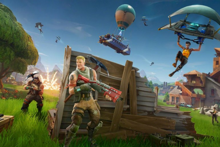 Art promocional de Fortnite, da Epic Games