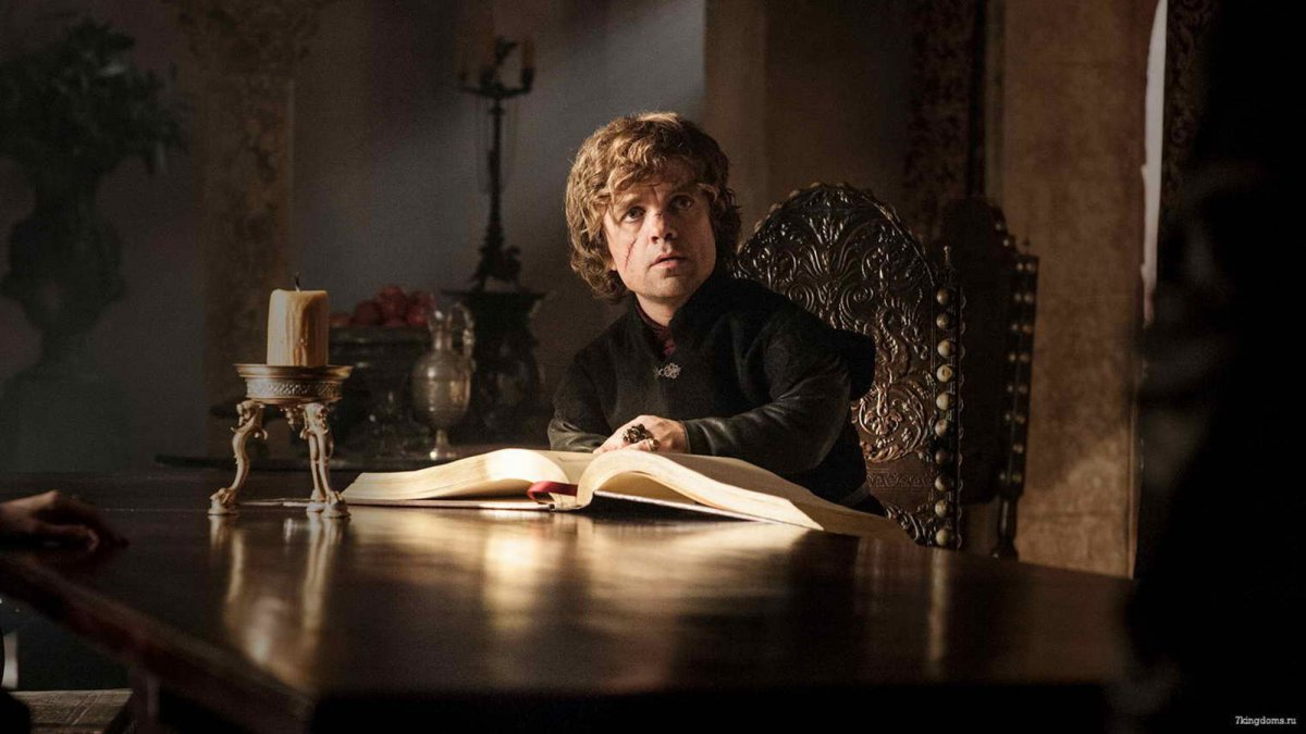 Tyrion a ler - Game of Thrones