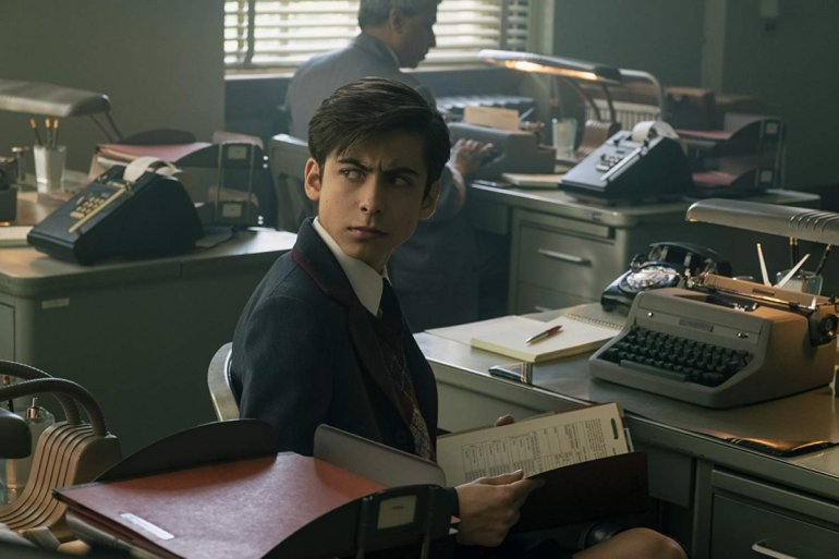Aidan Gallagher em The Umbrella Academy