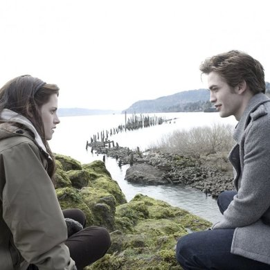 Kristen Stewart e Robert Pattinson em Twilight