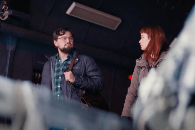 Leonardo Dicaprio e Jennifer Lawrence em Don't Look Up da Netflix