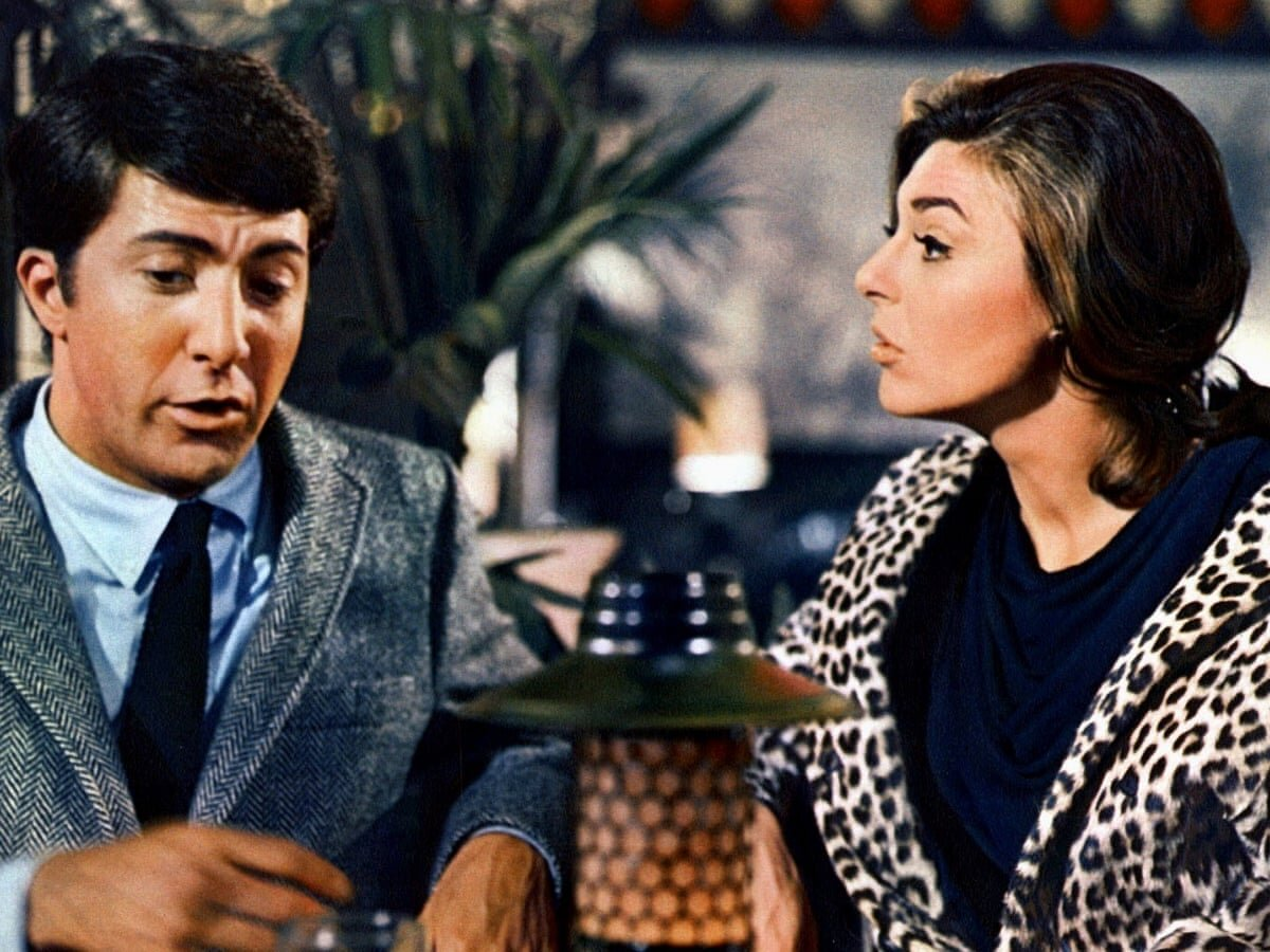 Dustin Hoffman e Anne Bancroft no filme 'The Graduate'