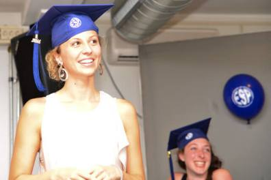 Francesca during her graduation ceremony in 2014