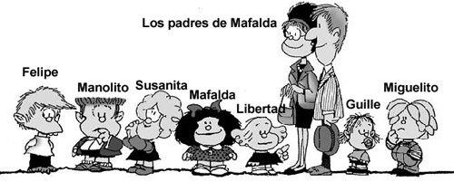 personagens da mafalda - espanhol sem fronteiras