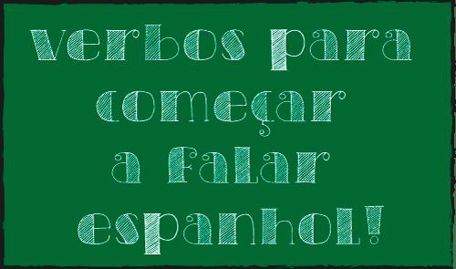 Verbos para aprender espanhol