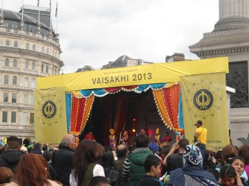 Fiesta india en Trafalgar Square