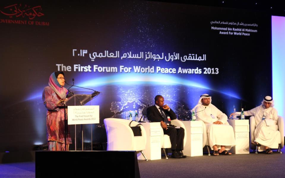 Fundación Paz Global en el Primer Foro de los Premios a la Paz Mundial en Dubai