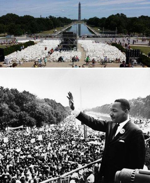 """El 28 de agosto de 2013 será realizada una conmemoración en honor de los 50 años desde que el Dr. King pronuncio su inspirador discurso """"I have a dream"""" desde las escalas del Monumento Memorial de Lincoln. (Crédito a usa.gov)"""