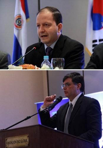 Carlos G. Fernández Valdovinos del Banco Central de Paraguay (arriba) y José Molinas Vega, el Ministro de Planeación para el Desarrollo Económico y Social enfatizó los datos económicos que apoyan un modelo de crecimiento y desarrollo en Paraguay.