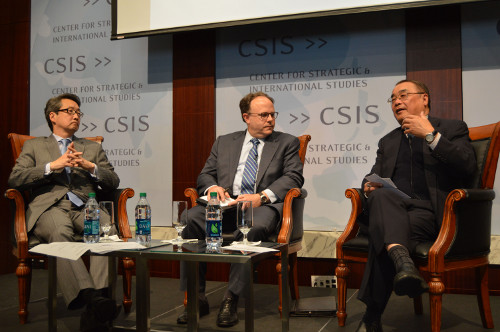 Dr.-Victor-Cha-Amb.-Sydney-Seiler-Dr.-Zhao-CSIS-Global-Peace-Foundation-Forum-on-China-Korea-US-relations-