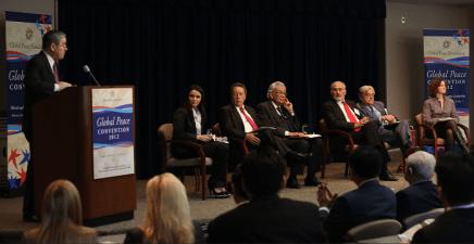 La Convención Paz Global 2012 resaltó el rol de liderazgo global del continente Americano arraigado en aspiraciones, principios y valores universalmente aceptados.