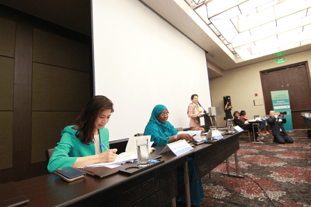 panel de GPW durante el discurso de la Dra. Jun Sook Moon en la Convención Paz Global 2017 Manila